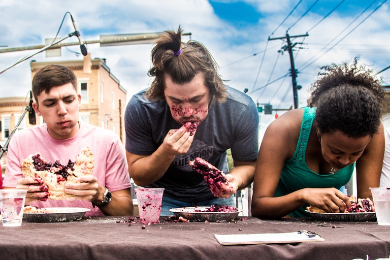 Pie Eating Contest, Hampdenfest, Hampden, Baltimore, Maryland