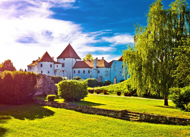 Old town of Varazdin park, northern Croatia.