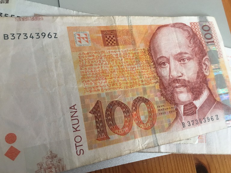 Ivan Mažuranić and his mighty sideburns on the 100-kuna note