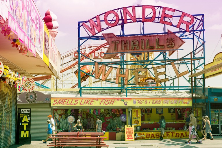 A view of the Wonder Wheel from Luna Park.