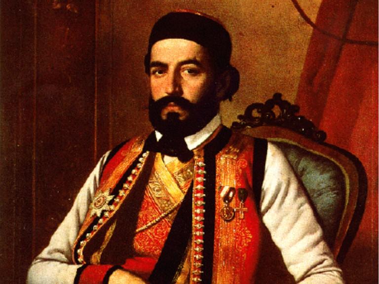 The classic portrait of Petar II Petrović Njegoš