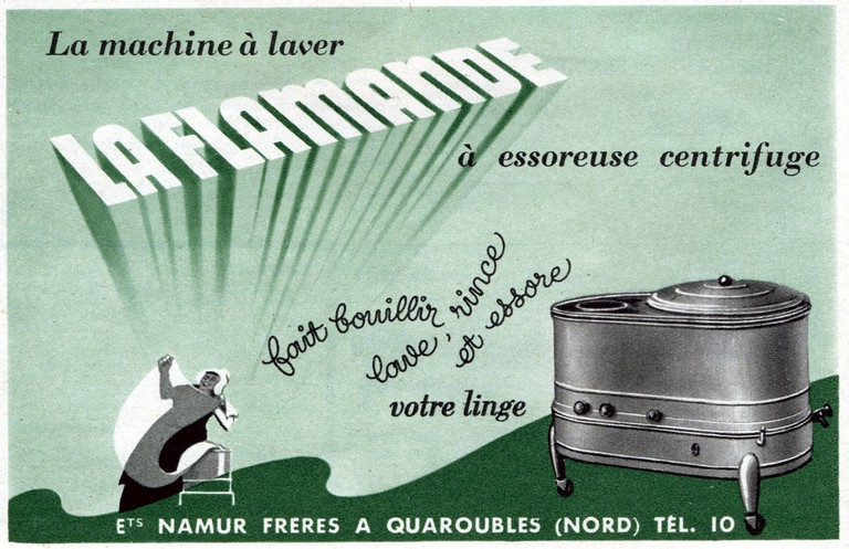 Washing machine La Flamande, advertisement from Arts Menagers, France, 1952 | © CCI / REX / Shutterstock