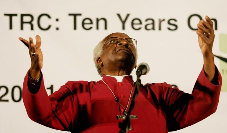 Desmond Tutu Former Truth And Reconciliation Commissioner Archbishop Emeritus Desmond Tutu.