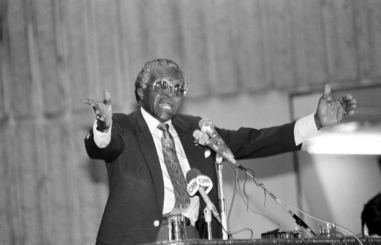South African Bishop Desmond Tutu.