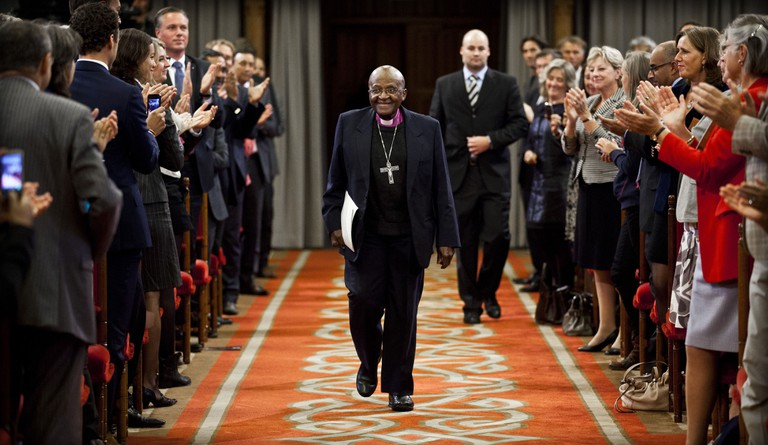 The South African Archbishop Desmond Tutu.