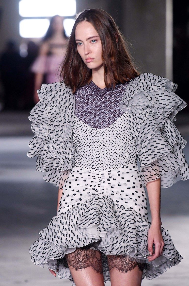 Giambattista Valli show, runway, Paris Fashion Week, October 2017