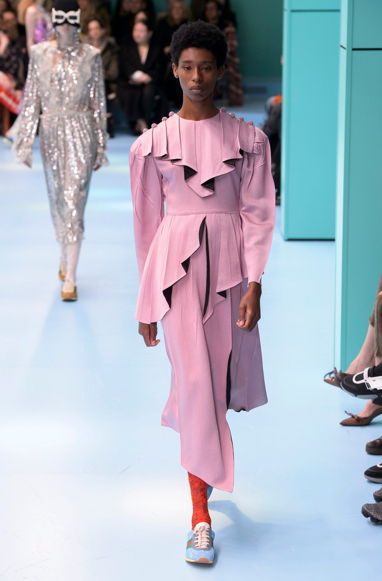 Gucci show, runway, Milan Fashion Week, SS18 presentation, October 2017