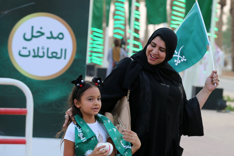 Saudi National Day celebrations, Riyadh, Saudi Arabia.