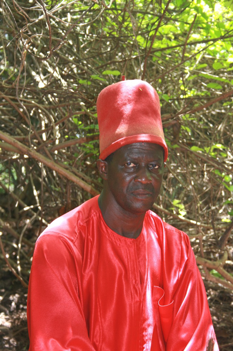 The current King of Oussouye, Sibiloumbaye Diédhiou