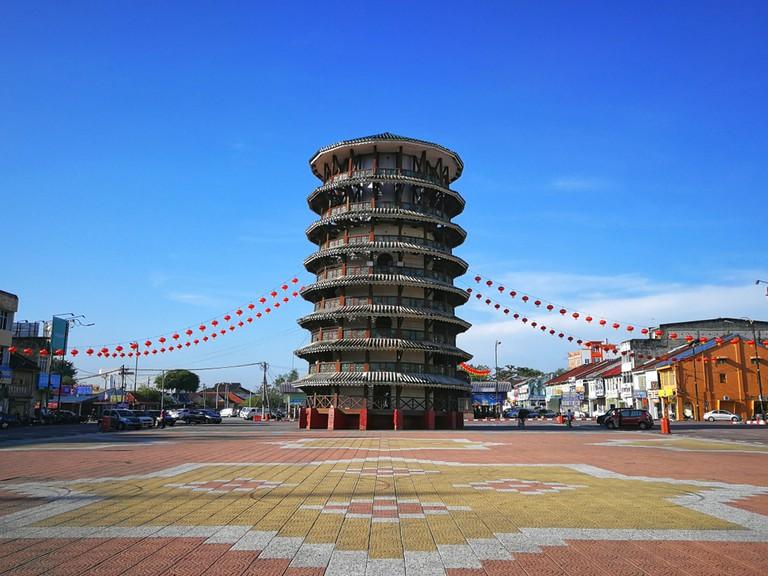 The Leaning Tower of Teluk Intan, Teluk Intan Perak, Malaysia.