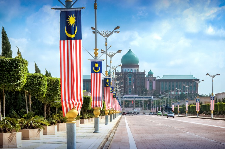 View of the Prime Minister's office, Kuala Lumpur, Malaysia.
