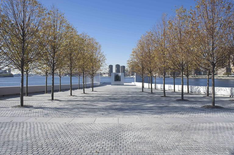 Roosevelt Four Freedom park on Roosevelt Island, New York City.