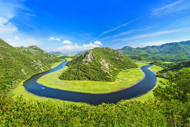 Canyon of Rijeka Crnojevica river, Montenegro.