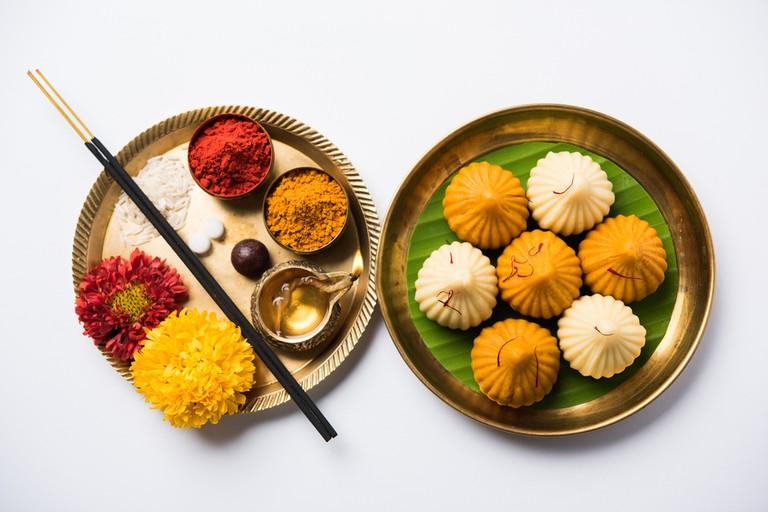 A modak is an Indian sweet dumpling