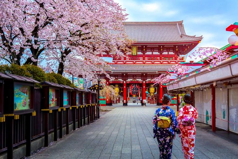 Sensoji Temple in Asakusa Tokyo, Japan.