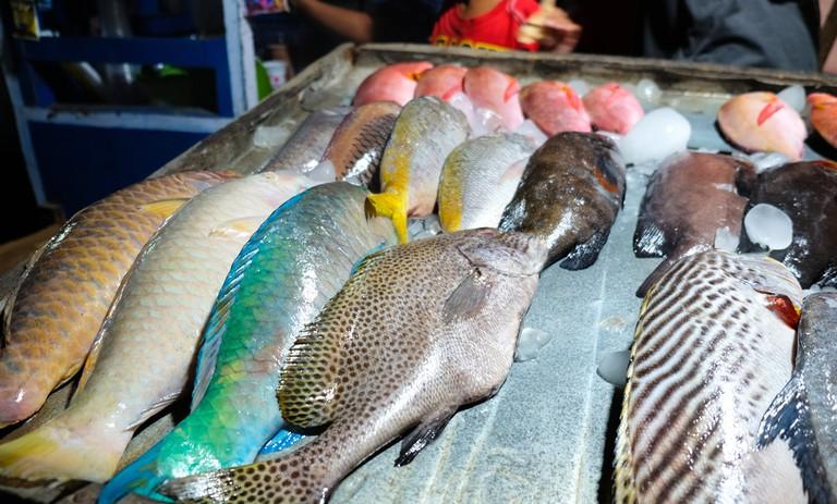Street Sea food stall at Trawangan Night Market