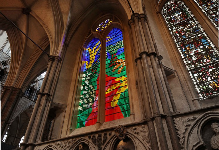 The Queen's Window, Westminster Abbey, Picture Alan Williams