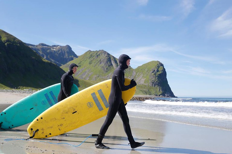 Unstad is a meeting point for arctic surf enthusiasts, Courtesy of Unstad Arctic Surf