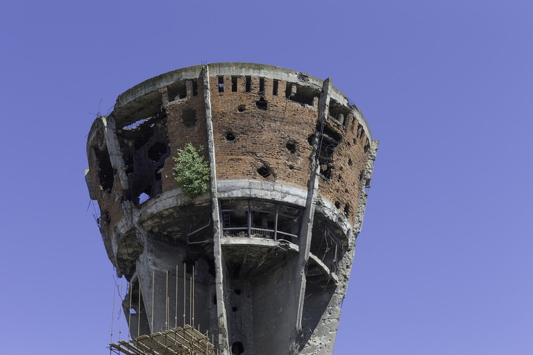 Vukovar's water tower is the most iconic legacy of Croatia's War of Independence