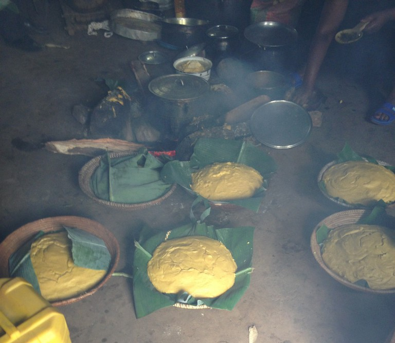Fufu corn at a traditional wedding