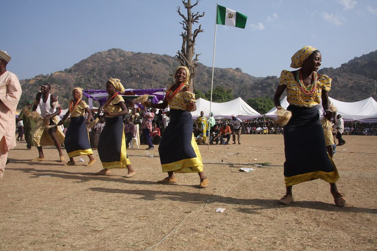 Watch dancing at the Tukham Festival