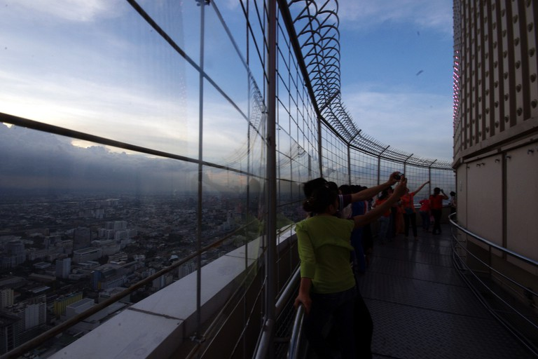 Observation deck at the haunted Baiyoke Sky Hotel