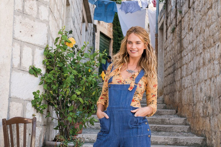 Lily James plays Young Donna in 'Mamma Mia! Here We Go Again'