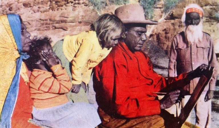 Albert Namatjira at home with his family © Aussie Mobs / Flickr