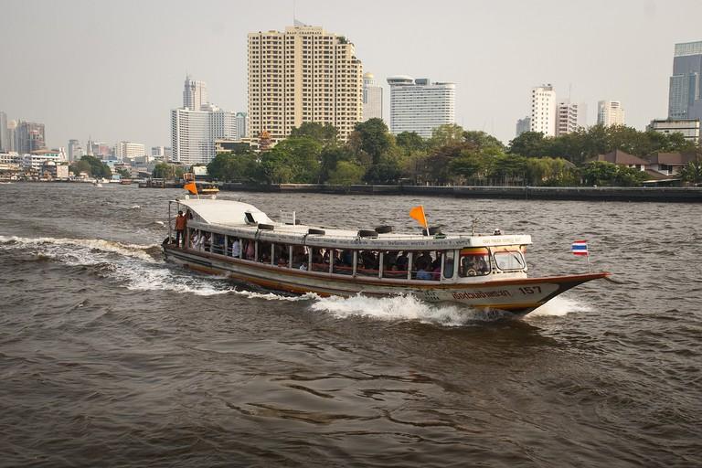 The Chaophraya River in Bangkok, Thailand