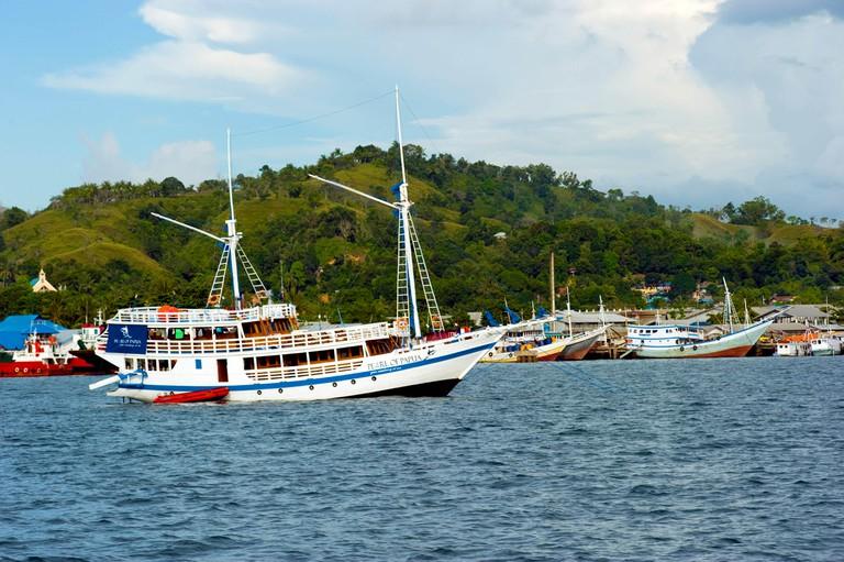 Scenic view of Sorong Harbor, Raja Ampat Indonesia