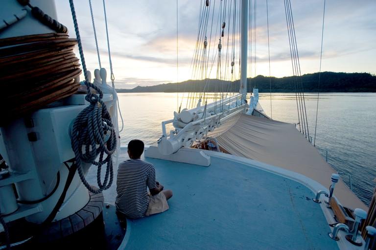 Sailing in Raja Ampat Indonesia