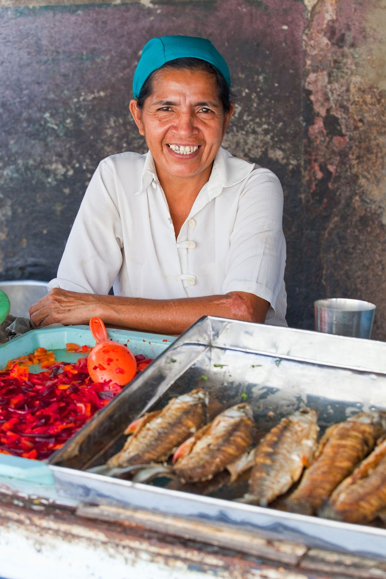 Food vendors, Barranquilla, Colombia