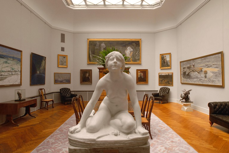 THIEL GALLERY, showing the art collection of banker Ernest Thiel, occupying his mansion in the remote, leafy part of Stockholm known as Djurgarden.