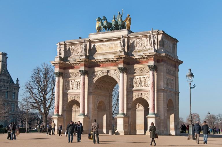 Arc de Triomphe du Carrousel  Tuileries Museum Musee du Louvre Paris France