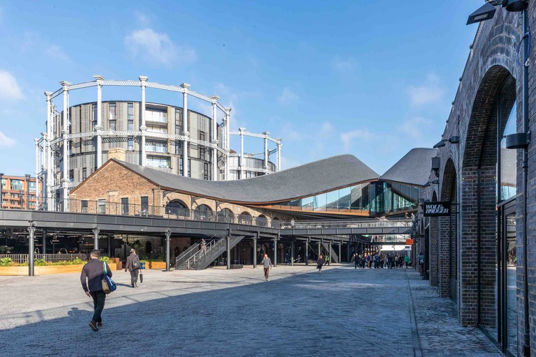 Coal Drops Yard, King's Cross with Gasholders in the background
