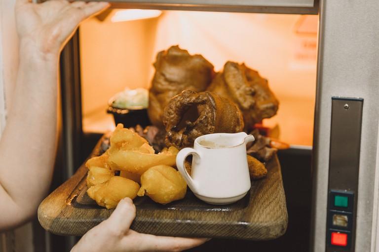 The Sunday roast is a British staple