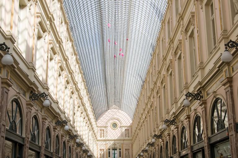 Galeries Royales Saint-Hubert in Brussels, Belgium.