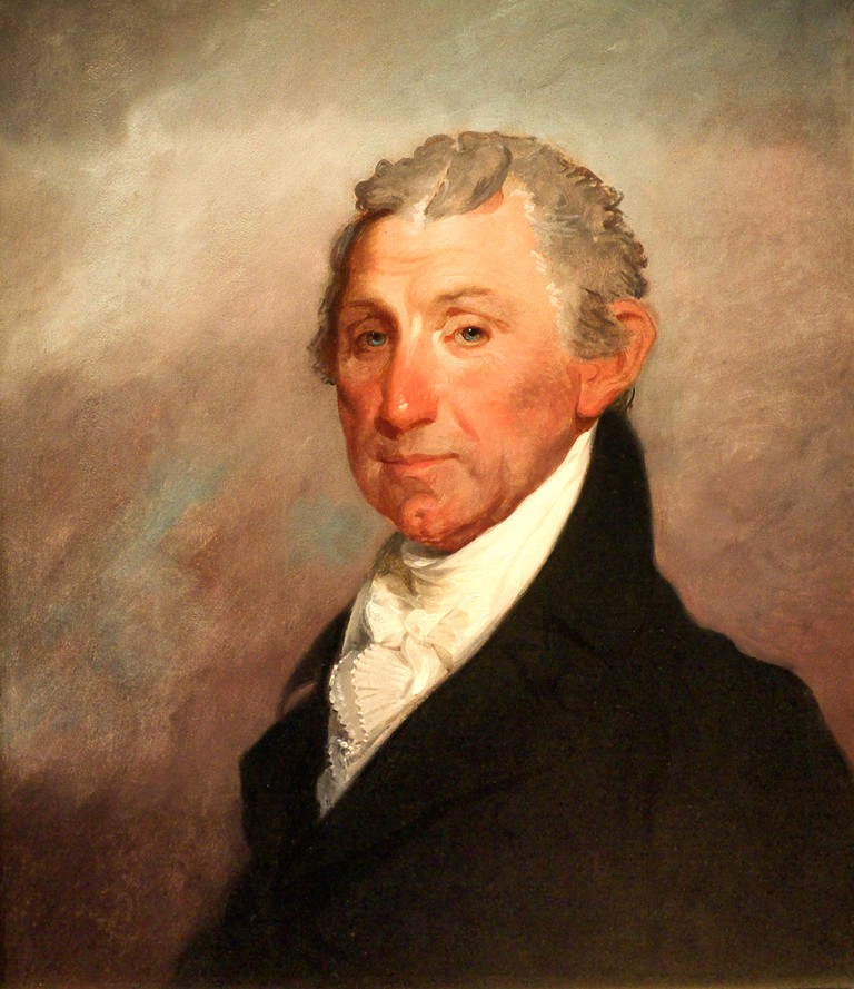 James Monroe by Gilbert Stuart.
