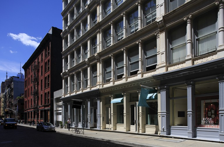 Cast-Iron buildings in Soho, Lower Manhattan, New York City USA