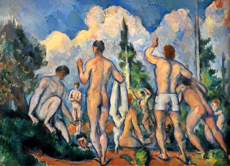 Baigneurs - Bathers 1890 Paul Cezanne.