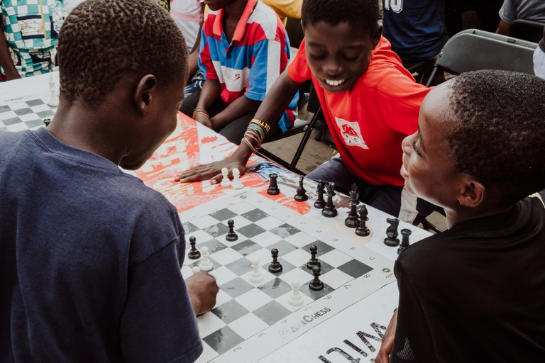 Board games are a James Town favourite – Chale Wote Street Art Festival, Accra, Ghana