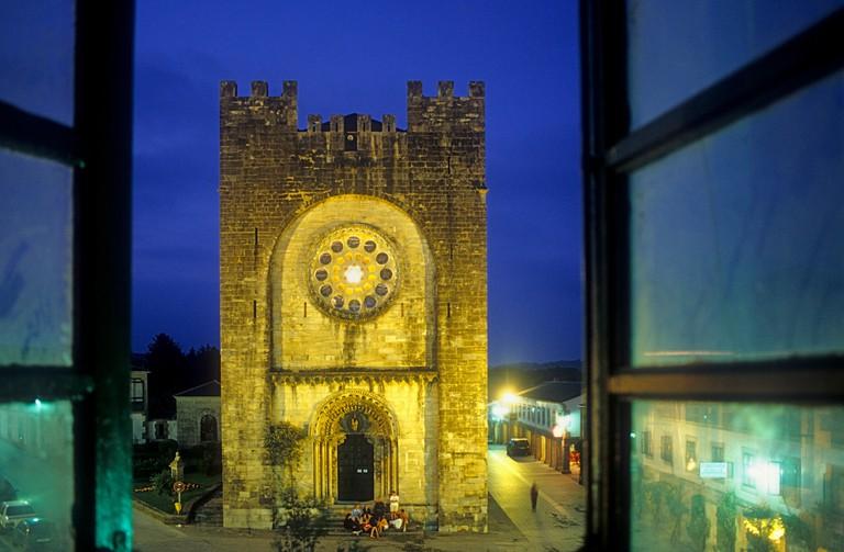 San Juan Romanesque church, Portomarin. Lugo province. Spain.