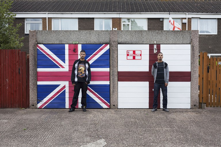 'St. George's Cross, Union Jack and Two Asians' (2010) byMahtab Hussain