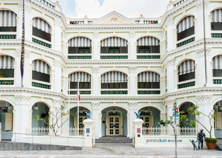 Facade of the Peranakan Museum of Singapore