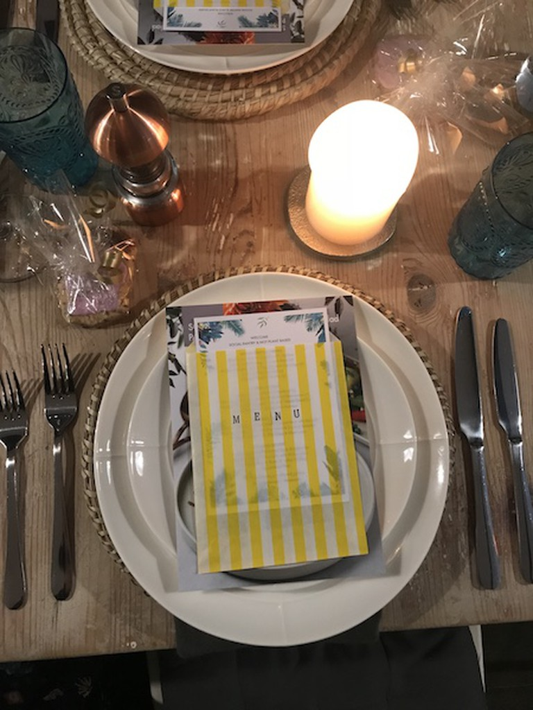 A place setting at the supperclub