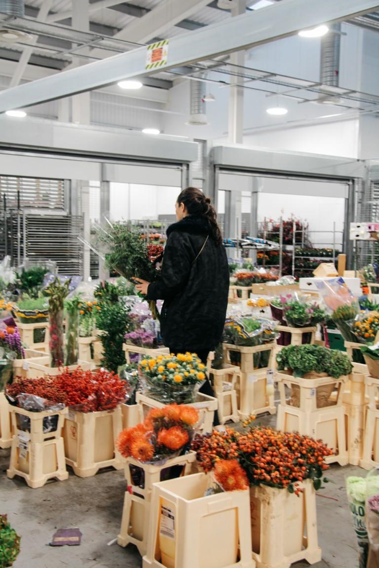 Cut flowers at New Covent Garden Market