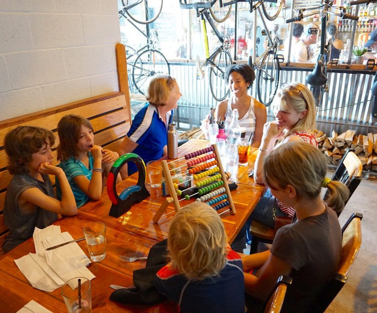 kids table!, HandleBar Cafe, Baltimore, Maryland