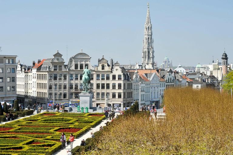 Mont des Arts Garden, Brussels.