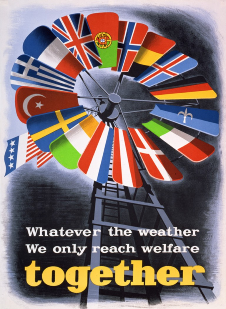 A Marshall Plan poster from 1947 | © E. Spreckmeester / WikiCommons