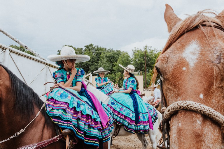 Charrería rodeo performers begin their training at a young age